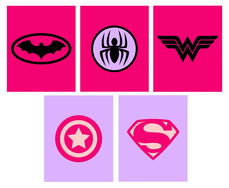 girl superhero printables girl superhero logos