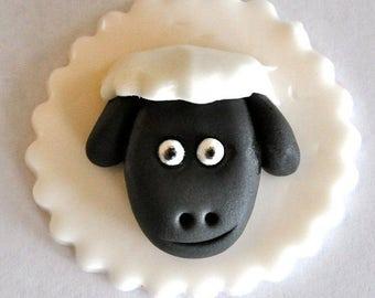 Lamb Fondant Cupcake Toppers