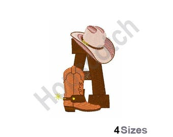 Rodeo Cowboy Font A - Machine Embroidery Design