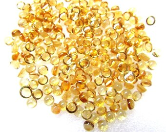 50 pcs Lot 4mm CITRINE Round Cabochon Gemstone - Citrine Cabochon Round - Natural Citrine round cabochon loose gemstone - AAA++ Quality Gems