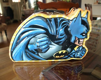 Embossed Batman Lunchbox by Houston Harvest Gift Products.