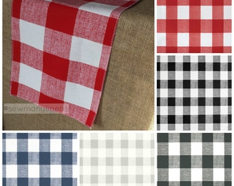 Red Black Gray Navy Plaid Table Runner Buffalo Gingham Check Table  Centerpiece Linens Dining Room Home