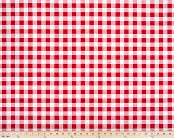 Red And White Gingham Check Curtains Plaid Country Kitchen Cabin Cottage  Curtain Panels Window Treatments Custom