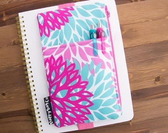 Planner Pouch - Planner Cover - Planner Accessories - Planner Bag - Planner Organizer - Planner Case - Floral - Planner Pocket #55