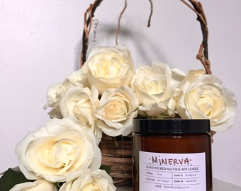 Minerva scented soy candle 8oz
