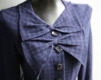 Women's Genuine Wool Day Dress circa 1940's