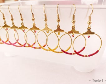 Color choice in Miyuki beads and TROPICAL Golden Hoop Earrings