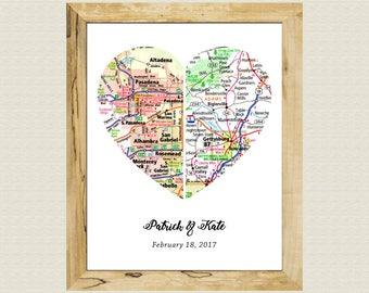 Custom Best Friend Gift Custom Atlas Print Gift Customized Wall Decor Gift Girlfriend Gift Girlfriend Map Gift Unique Love Art Gift Print