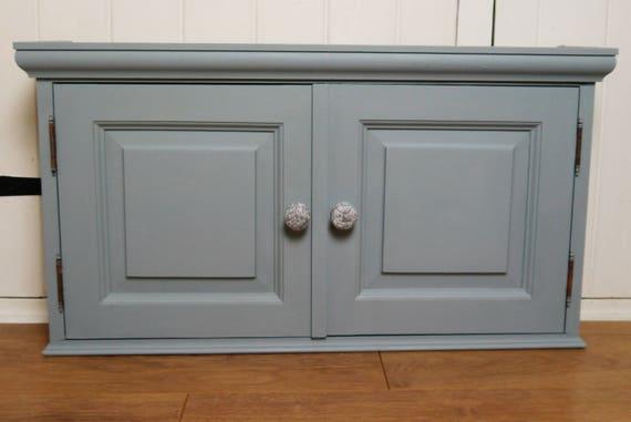 Vintage Two Door Bathroom Wall Cabinet Wedgewood Blue With