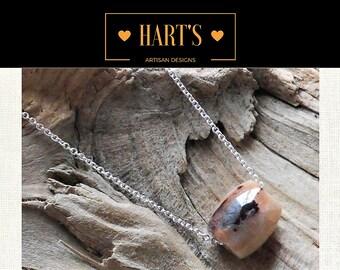 Wesselite Gemstone Argentium Silver Necklace