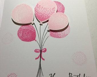 Pink Birthday Balloons