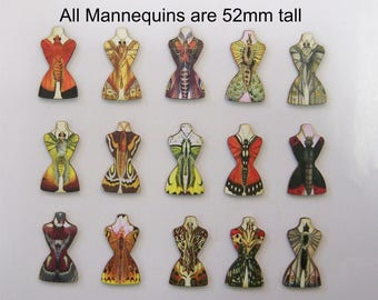 15 X Dressmakers Dummies with  Butterfly connection