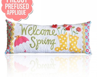 Welcome Spring Bench Pillow Pattern - PreCut