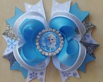 Frozen Hair Bow | Elsa Hair Bow