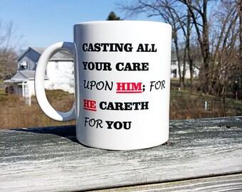 Christian Mug, Bible Verse Mug, Inspirational Mug, Printed Mug, Cofee Mug, White Mug, Tea Cup, Religious Mug, Christian Gift Box, Gift.