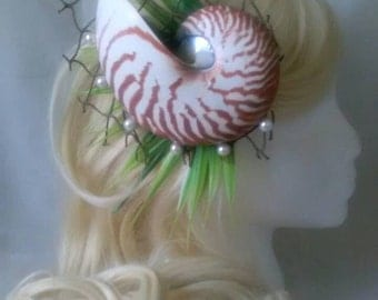 Nautilus Shell Mermaid Hair Piece
