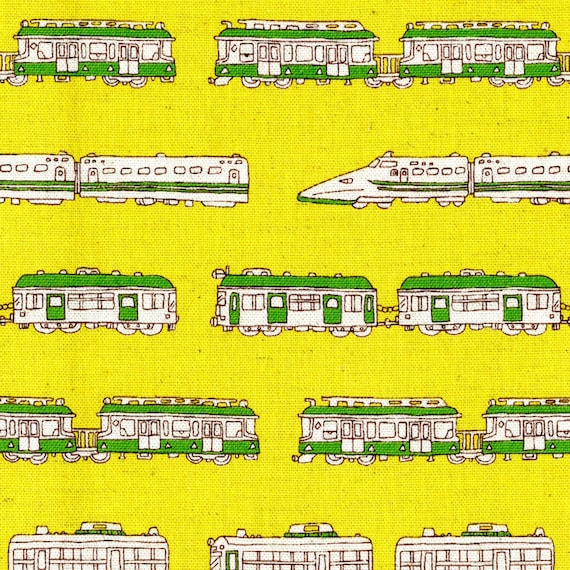 Train fabric trains canvas by the yard yellow stripes for Train fabric by the yard