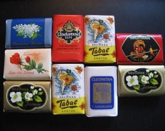"9 pieces miniature soap ""Feinseifen"" C. Naumann ... Made in Germany."