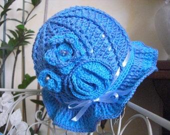 Blue bonnet girl