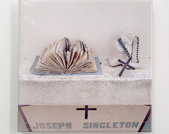 Wall Tile, Key West Cemetery Angel, Angel, Rosary, Bible, Tile 12