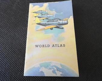Vintage World War 2 Era Miniature World Atlas American Red Cross