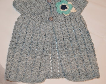 2 - 3 Years Old Girls' Slate Cardigan