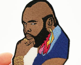 Mr T Patch - B.A. A-Team Iron On - Embroidery Patch