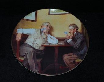 """1988 Knowles Rockwell's Golden Moments """"Best Friends"""" Collector Plate by Norman Rockwell"""