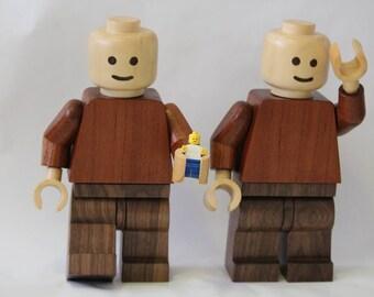 Timber lego men