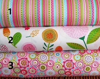 Beautiful bright multi colour fabric per fat quarter/per half meter/per meter/per fat quarter bundle