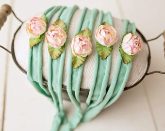 Water Lilies / Newborn Headband