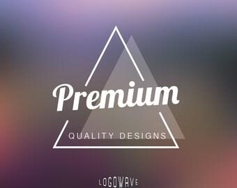 Premade business logo design - custom logo - customized - triangle - premium - black - white - vintage
