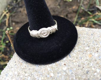 Hand Made Wire Wrapped Jewelry Spiral Ring.