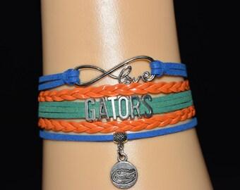Florida Gators Infinity Charm Bracelet