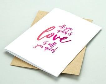 Love / Wedding / Engagement Blank Greetings Card