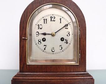JUNGHANS Antique BAUHAUS Mantel Top!! Clock Shelf Germany GONG Chime Shelf 1920s