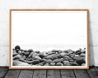 Nature Photography, Nature Wall Art, Stone Photography, Black and White Nature Print, Stone Wall Art, Black and White Photography, Print Art