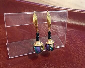 Liberty print earring