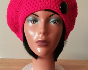 Red Beret/Tam with black button
