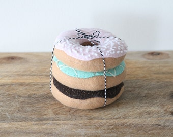 Felt Doughnut - Felt Play Food - Felt 3 Pack Doughnut - Felt Food - Pretend Doughnut - Pretend Food - Play Food - Felt Donut - Play Doughnut