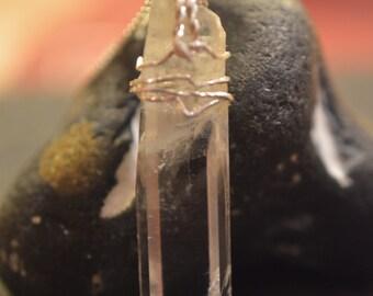 Rock crystal (Himalaya) charm 925 Silver