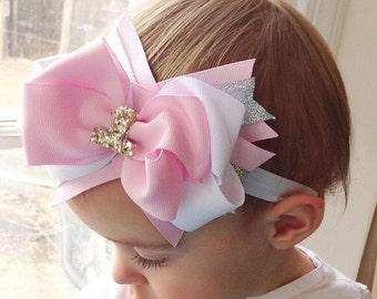 First birthday bows, birthday bows, birthday headbands, baby headbabds, baby bows, toddler bows, toddler headbands