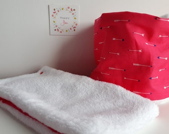 Child's neck circumference - fabric choice / lining comforter or fleece depending on availability