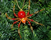 Christmas Spider Ornament - Rust