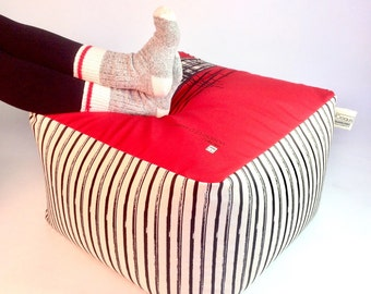 Unique Ottoman / removable and washable fabric / Interior rugged polyester fabric and comfortable /decoration