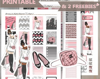 Shopping CHANEL CHIC printable Erin Condren Sticker Kit,Printable planner Sticker kit, Erin Condren Planner Kit,Printable weekly sticker kit