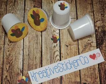 K-Cup Coffee Holiday Theme Sticker Toppers