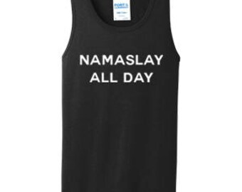 NAMASLAY ALL DAY Men's Tank Top #C003