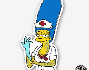 Nurse Marge - Die Cut Sticker