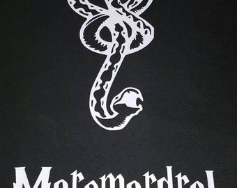 Mens (or womens) death eater inspired shirt, morsmordre spell, dark mark, harry potter inspired, dark green or black shirt
